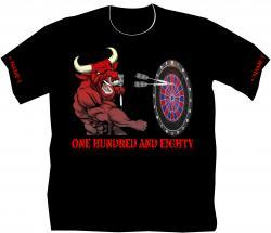 Dart T-Shirt Stier Vereinsshirt Dartsport  Dartbekleidung Herrenshirts  bedruckt
